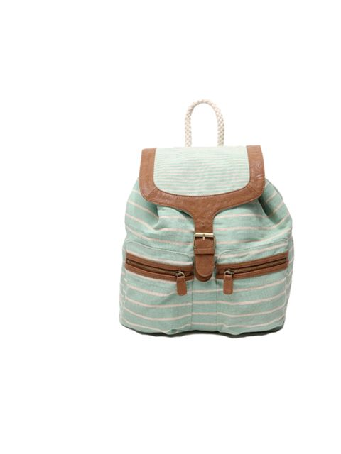 """<p><a href=""""http://www.urbanoutfitters.co.uk/striped-canvas-backpack/invt/5771463419700/&amp&#x3B;bklist="""">Urban Outfitters</a> striped canvas backpack, £20</p>"""