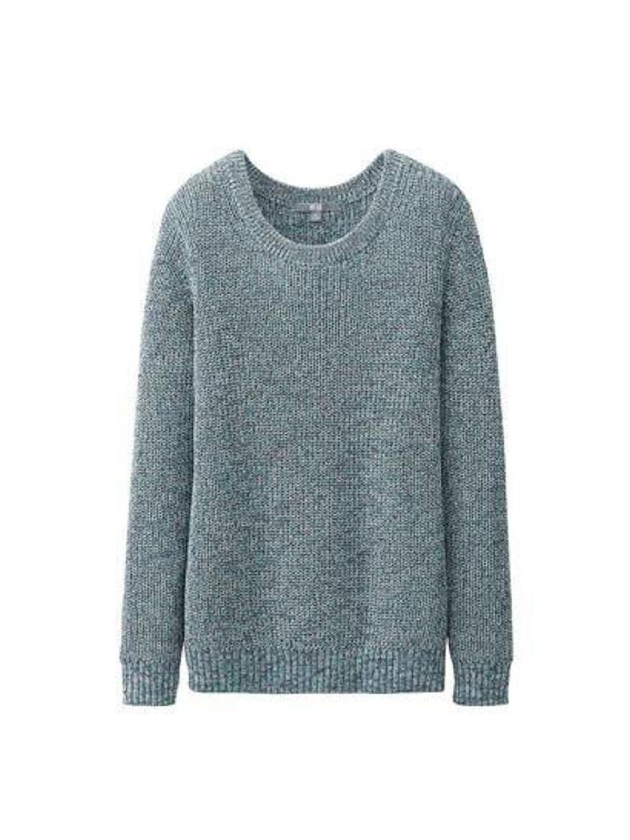 "<p>Layer it up with this <a href=""http://www.uniqlo.com/uk/store/goods/087239"">Uniqlo</a> jumper, £19.90</p>"