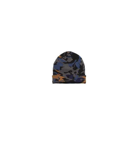 "<p>Add a dash of drama to daytime looks with <a href=""http://www.monki.com/Shop"">Monki</a>'s 'Ruby' camo beanie, £6</p>"