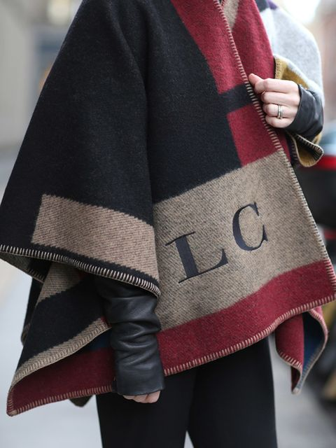 <p>Lorraine Candy - Editor-in-Chief</p>  <p>Burberry blanket and Rick Owens leather jacket.</p>