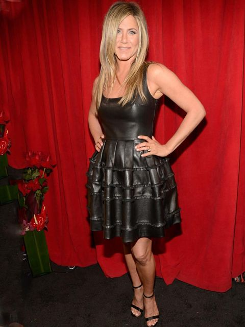 "<p><a href=""http://www.elleuk.com/star-style/celebrity-style-files/jennifer-aniston"">Jennifer Aniston</a> in a leather <a href=""http://www.elleuk.com/catwalk/designer-a-z/christian-dior/spring-summer-2013"">Christian Dior</a> dress at the People's Choice A"