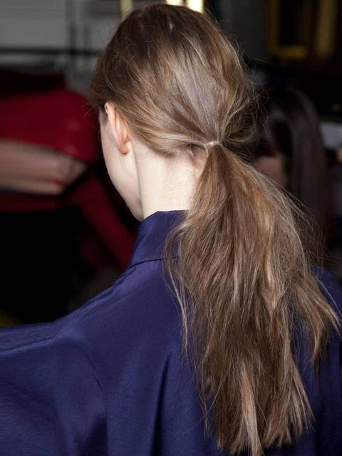 "<p>Unless your hair is super thick and unruly don't brush. Instead use your fingers as a comb.</p><p><a href=""http://www.elleuk.com/beauty/hair/hair-features/b-raided-hive"">Marc Trinder</a>, Art Team Director at Charles Worthington Salons, recommends you"