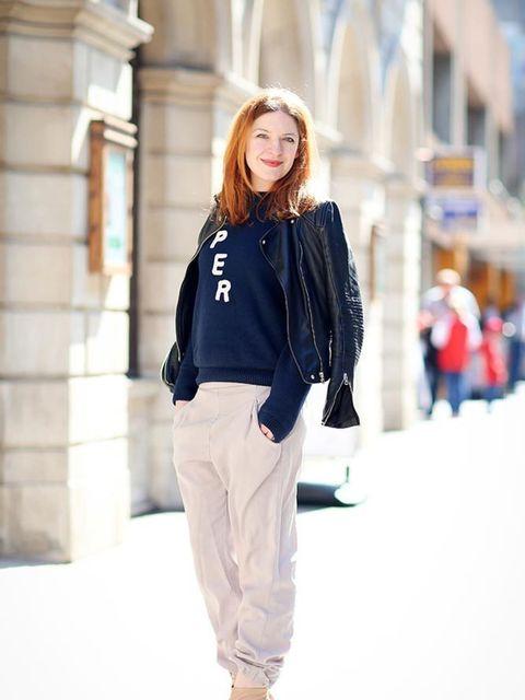 <p>Natasha Pearlman, Deputy Editor</p><p>Zara jacket, & Other Stories jumper, Topshop trousers, Whistles shoes</p>