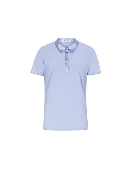 Pair it with a silk summer polo shirt