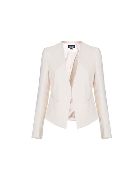 Add a white blazer for the summer nights  Topshop, £48