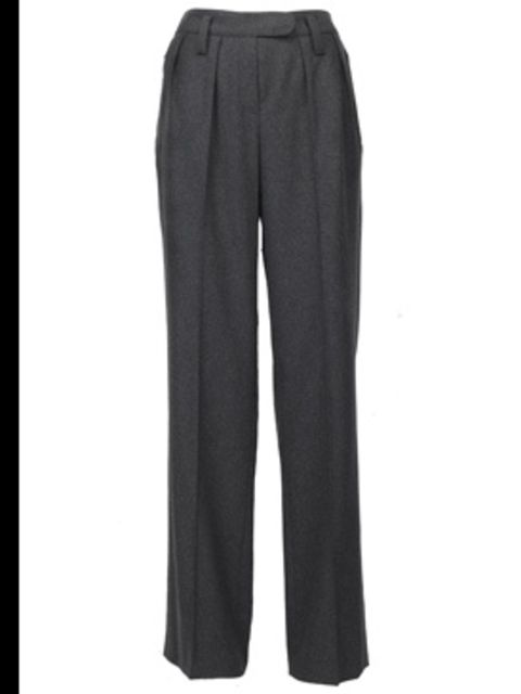 <p>Grey wool trousers, £229, by Sonia by Sonia Rykiel, available at Fenwick (0207 629 9161)</p>