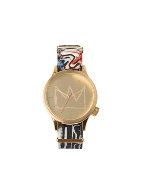 Jean Michel Basquiat's work packaged into a little piece of art that you can wear everyday. Komono watch, £70