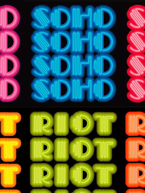 <p>ART: Ben Eine: Soho Riot</p>  <p>We've made no secret that our love for Lights of Soho, London's leading light-art gallery, runs deep. But now, somehow, they've managed to make us love it even more with this, what might just be its co