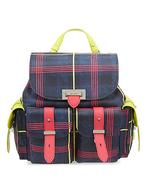 "<p>Aspinal backpack, £695, exclusive to <a href=""http://www.selfridges.com/GB/en/cat/aspinal-plaid-leather-backpack_133-3004426-042173516570000/?previewAttribute=Navy"" target=""_blank"">Selfridges</a> </p>"