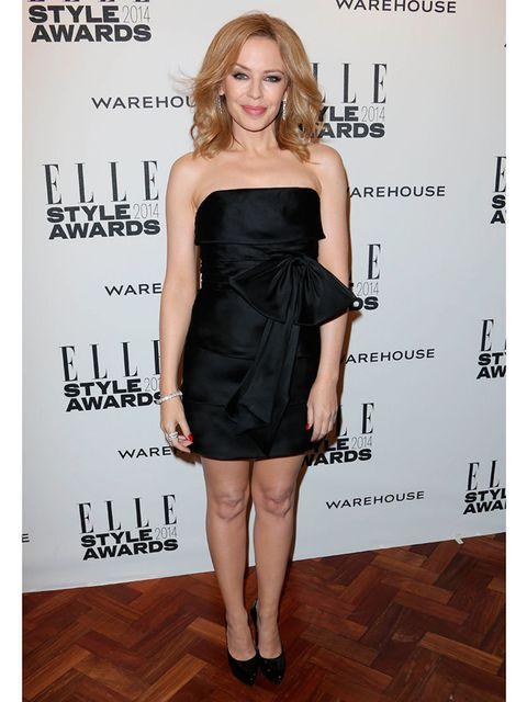 <p>Kylie Minogue wears Saint Laurent at the ELLE Style Awards 2014</p>