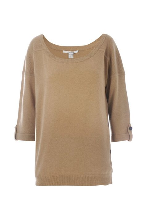 "<p>Camel cashmere top, £245, by Diane von Furstenberg at <a href=""http://www.matchesfashion.com/fcp/product/Matches-Fashion/womens_diane_von_furstenberg/diane-von-furstenberg-DVF-Y-S9070431T10-knitwear-CAMEL/38846"">Matches</a></p>"