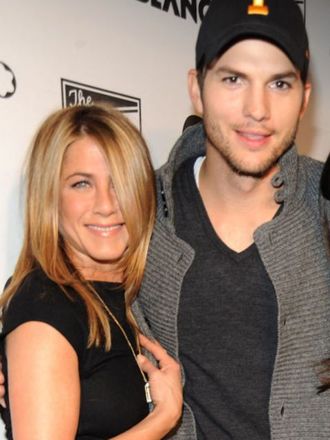 """<p><strong>Ashton Kutcher</strong></p>  <p>It's only fitting that the former Punkdhost would make a bet with his friends on teen crush Jen Aniston. He<a href=""""http://radaronline.com/"""" target=""""_blank""""> got real in 2011</a>: """"I was 17 years old and she wa"""