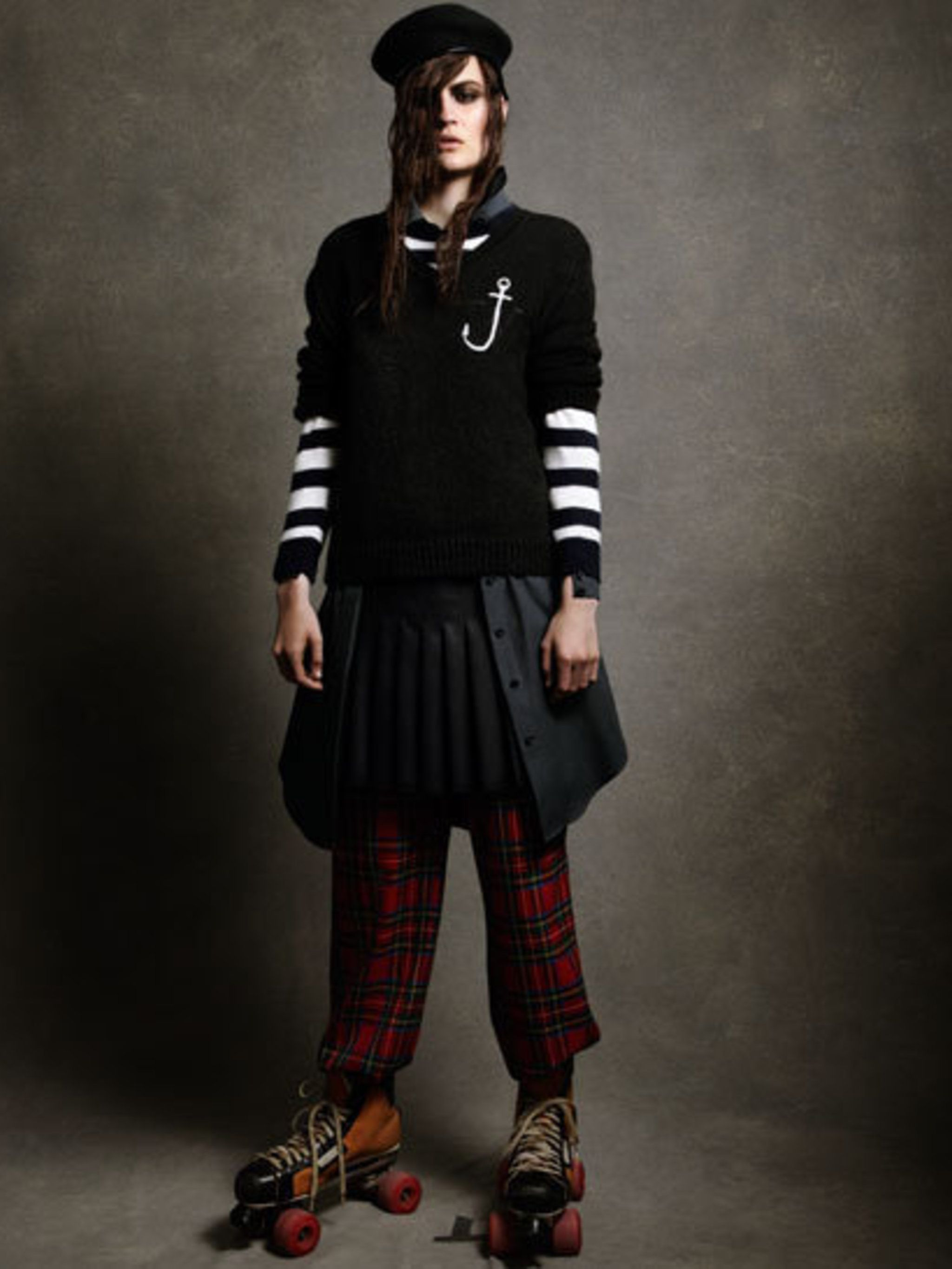 <p>A look from J W Anderson's first collection for Topshop</p>