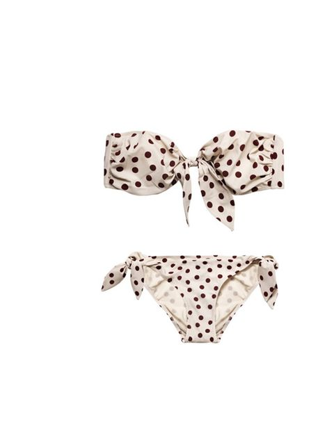 "<p>Get a slice of La Dolce Vita with this iconic itsy bitsy polka dot bikini… Dolce &amp&#x3B; Gabbana spot print bikini, £200, at Matches</p><p><a href=""http://shopping.elleuk.com/browse?fts=dolce+%26+gabbana+polka+dot+bikini"">BUY NOW</a></p>"