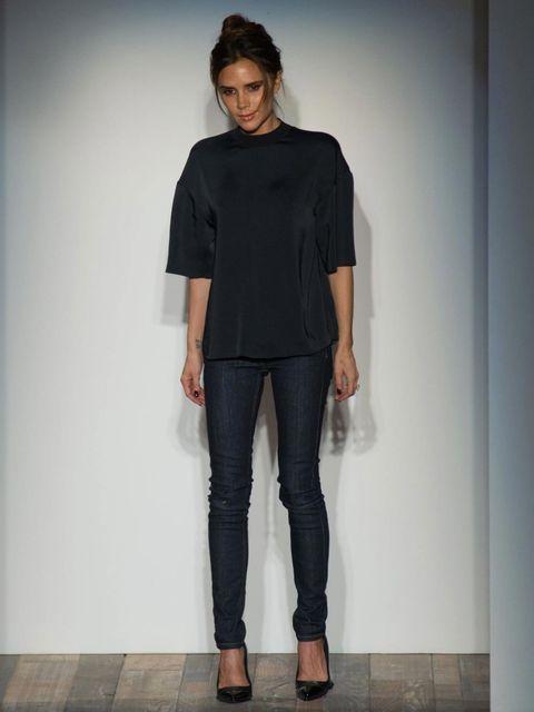 <p>Victoria Beckham at her AW13 mainline show</p>