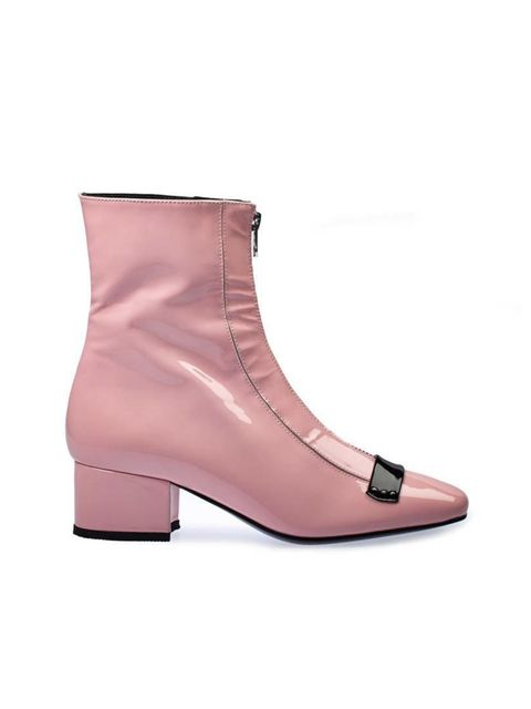 <p>Powder-pink ankle boots might seem a bit out there, but try them with mid-blue jeans and navy peacoat. You might just surprise yourself. </p>