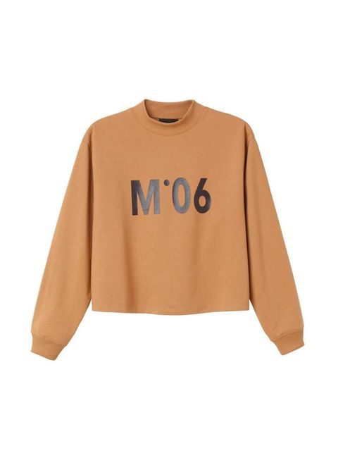 <p>The sweatshirt's latest incarnation is boxy and slightly cropped. </p>