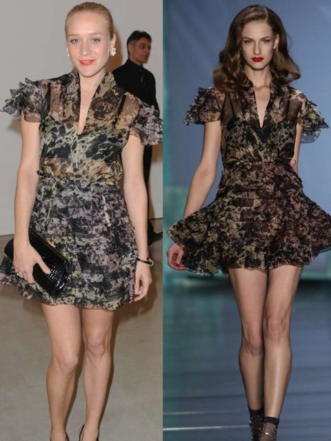 """<p>Chloe Sevigny in <a href=""""http://www.elleuk.com/catwalk/collections/christian-dior/spring-summer-2010/collection"""">Christian Dior </a></p>"""