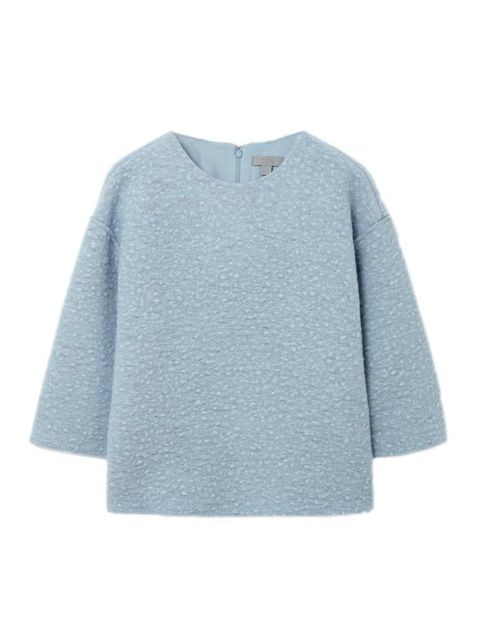 """<p>Editorial Assistant Gillian Brett will pair this with culottes and ankle boots.</p>  <p></p>  <p><a href=""""http://www.cosstores.com/gb/Shop/Women/New/Raw-edge_wool_top/365246-17238523.1#c-24479"""" target=""""_blank"""">Cos</a> top, £79</p>"""