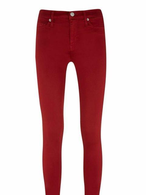 "<p>Hudson Jeans, £205 available at <a href=""http://www.selfridges.com/en/hudson-jeans-nico-mid-rise-super-skinny-jeans_150-3003581-WM407SISCINB/?previewAttribute=Cinnabar"">Selfridges</a>.</p>"