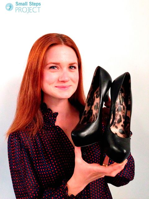 "<p><a href=""http://www.smallstepsproject.org/portfolio/bonnie-wright/"">Bonnie Wright</a> with her shoes.</p>"