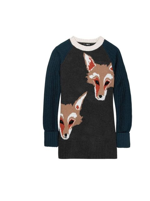 "<p>NW3 fox print knit jumper, £89, at <a href=""http://www.hobbs.co.uk/product/display?productID=0212-9763-2639K00&productvarid=0212-9763-2639K00-GREY%20MULTI-14&refpage=nw3"">Hobbs</a></p>"