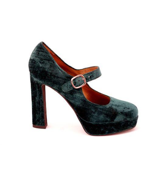 <p>Ursula Mascaro velvet Mary-Jane shoes, £189, for stockists call 020 7493 8224</p>