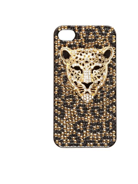 """<p><a href=""""http://www.riverisland.com/women/gifts--cosmetics/technology/Tiger-diamante-iPhone-cover-626388"""">River Island</a> embellished iPhone cover, £15</p>"""
