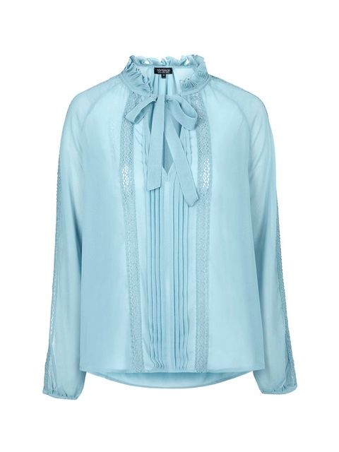 "<p><a href=""http://www.topshop.com/en/tsuk/product/new-in-this-week-2169932/new-in-this-week-493/semi-sheer-lace-insert-blouse-4632866?bi=0&ps=20"" target=""_blank"">Topshop</a> shirt, £40</p>"