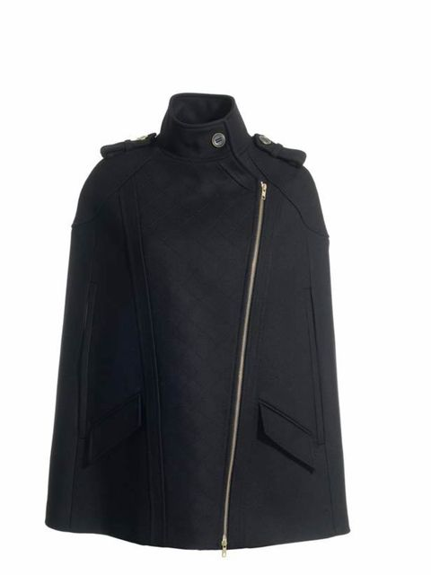 "<p><a href=""http://www.reissonline.com/shop/womens/coats/candy/black/"">Reiss </a>'candy' cape, £195</p>"