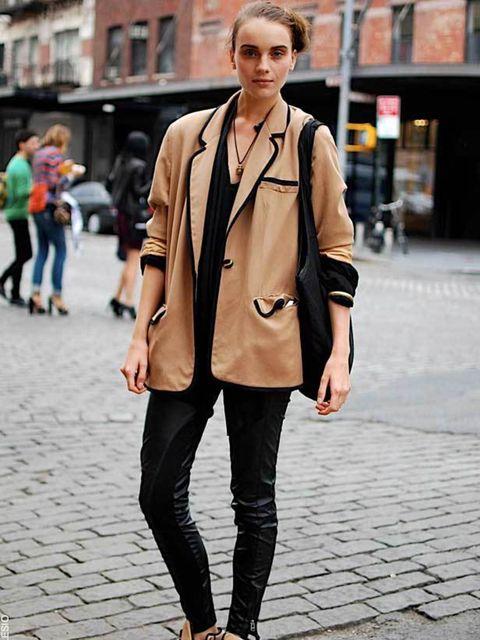 <p>Erica, 20, Model. Vintage jacket. </p>