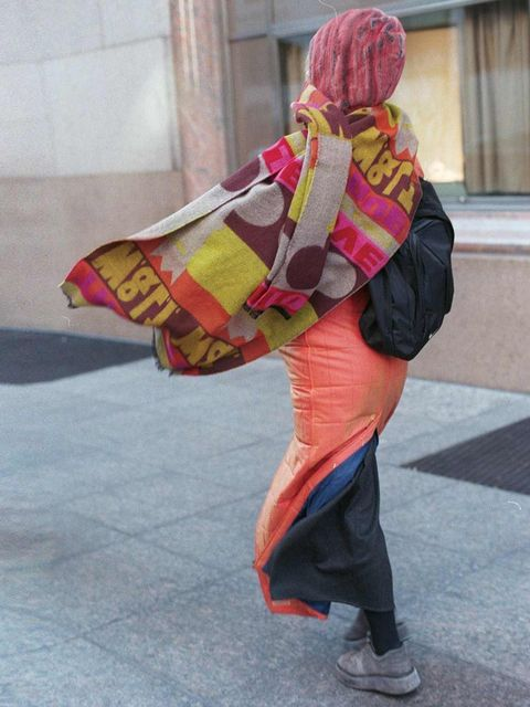 <p>A woman who caught Bill Cunningham's eye on the streets of New York.</p>