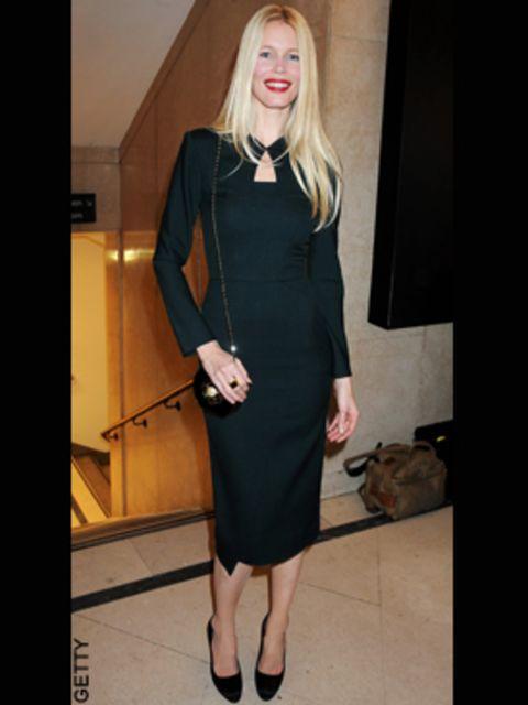 <p>Claudia Schiffer presented the Swarovski Emerging talent award to Nicholas Kirkwood</p>