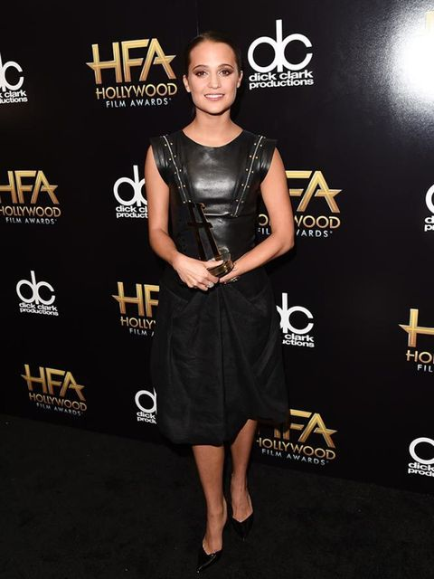 Alicia Vikander attends the 19th Annual Hollywood Film Awards in Beverly Hills, November 2015