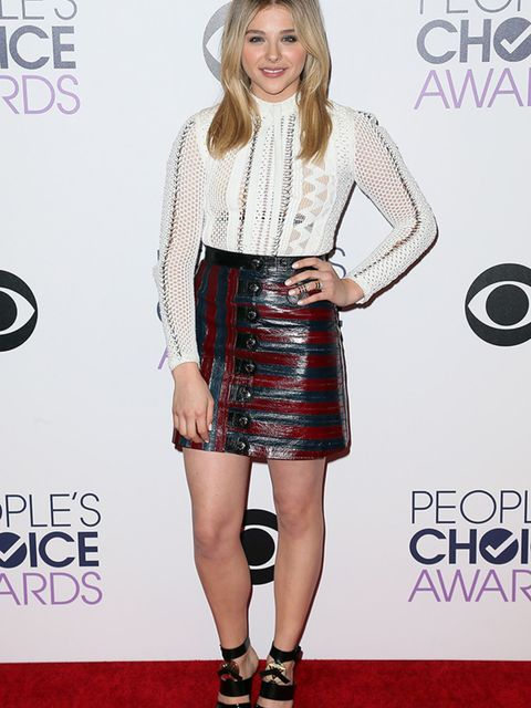 Chloe Moretz wears Louis Vuitton to the People's Choice Awards in Los Angeles, January 2015.