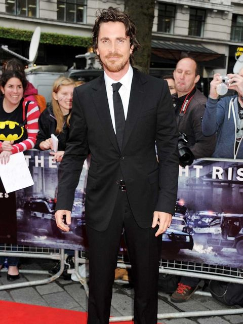 <p>Christian Bale attends the European premiere of The Dark Knight Rises in London's Leicester Square. He reprises his role as Bruce Wayne – a.k.a Batman – for the third and final time as the Dark Knight trilogy reaches it's climax.</p>