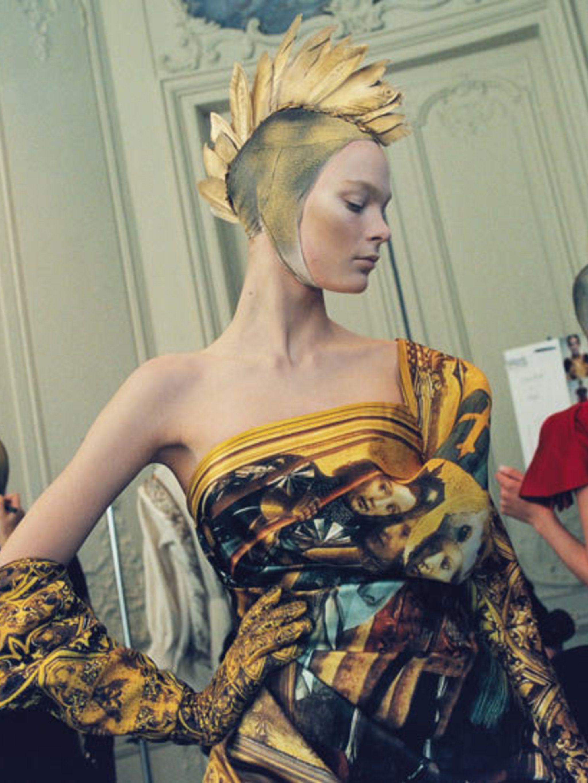 <p>Alexander McQueen final collection </p>