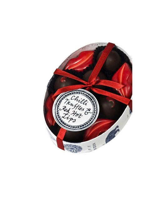 """<p>Rococo Chilli Truffles, £14.95, at <a href=""""http://www.liberty.co.uk/fcp/product/Liberty/GIFTS-FOR-HER/Chilli-Truffles-and-Red-Hot-Lips/84027"""">Liberty</a></p>"""