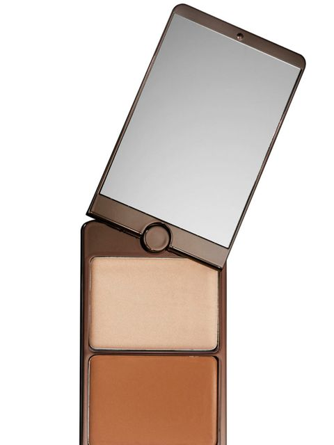 "<p>Lets start with the skin. Anne is resolutely pale, but its the not-so-subtle contouring that gives this look its strength. Use <a href=""http://uk.spacenk.com/illume-creme-to-powder-bronze-duo/MUS300023002.html"" target=""_blank"">Hourglass Illume Creme to"