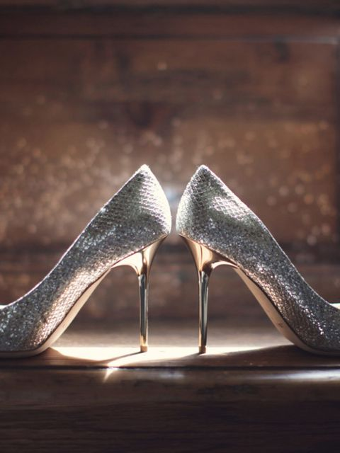 <p>My wedding shoes were Jimmy Choo, a gift from my stepmum.</p>
