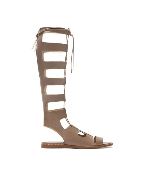 "<p><a href=""http://www.zara.com/uk/en/woman/shoes/leather-roman-sandals-c358009p2474559.html"" target=""_blank"">Zara</a> gladiator sandals, £89.99</p>"