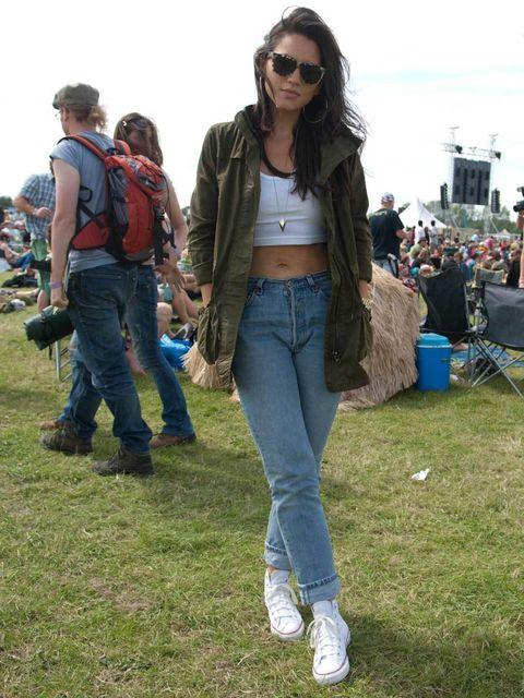 <p>Phoebe, 24, Journalist, London. Zara jacket, Topshop top, Levi's jeans, Converse shoes, Michael Kors watch.</p>