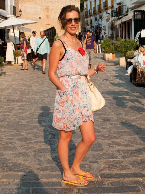 <p>Valentina, 31, London, Singer. Guess dress, Miss Sixty shoes, Chloe bag, Gucci sunglasses, vintage jewellery.</p>