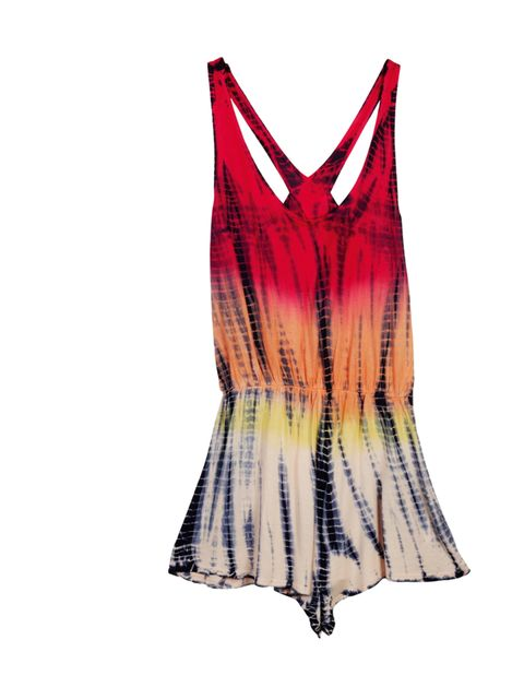 """<p><a href=""""http://www.urbanoutfitters.co.uk/"""">Urban Outfitters</a> tie dye playsuit, £38</p>"""