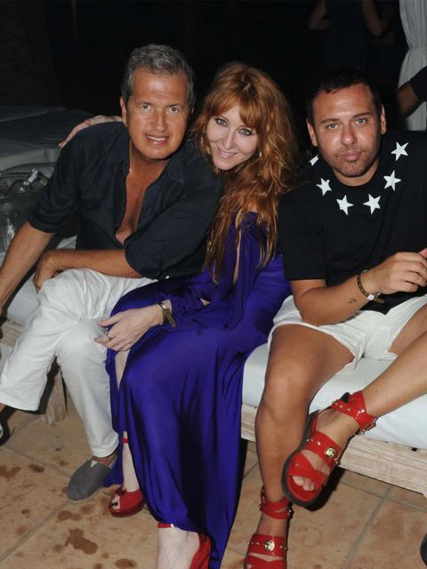 """<p><a href=""""http://www.elleuk.com/content/search?SearchText=mario+testino&SearchButto"""">Mario Testino</a>, <a href=""""http://www.elleuk.com/star-style/elle-in-ibiza/little-ibiza-book-charlotte-tilbury"""">Charlotte Tilbury</a> and Mert Alas attend the Ibiza"""