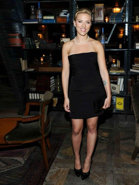 "<p><a href=""http://www.elleuk.com/star-style/celebrity-style-files/scarlett-johansson"">Scarlett Johansson</a> wearing Saint Laurent at the Soho House Toronto party to celebrate the premiere of Don Jon, September 2013. </p><p><a href=""http://www.elleuk.com"