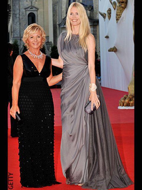 <p>The designer walked the red carpet with Claudia Schiffer - both in Alberta Ferretti, natch!</p>