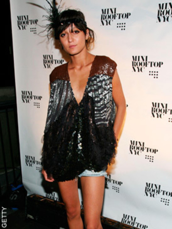 <p>Irina Lazareanu at V Magazine Party</p>