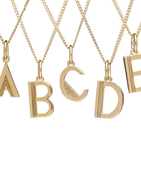 "<p>Initial necklace, £39, <a href=""http://www.racheljacksonlondon.com/collections/necklaces/products/initial-necklace"" target=""_blank"">Rachel Jackson </a></p>"