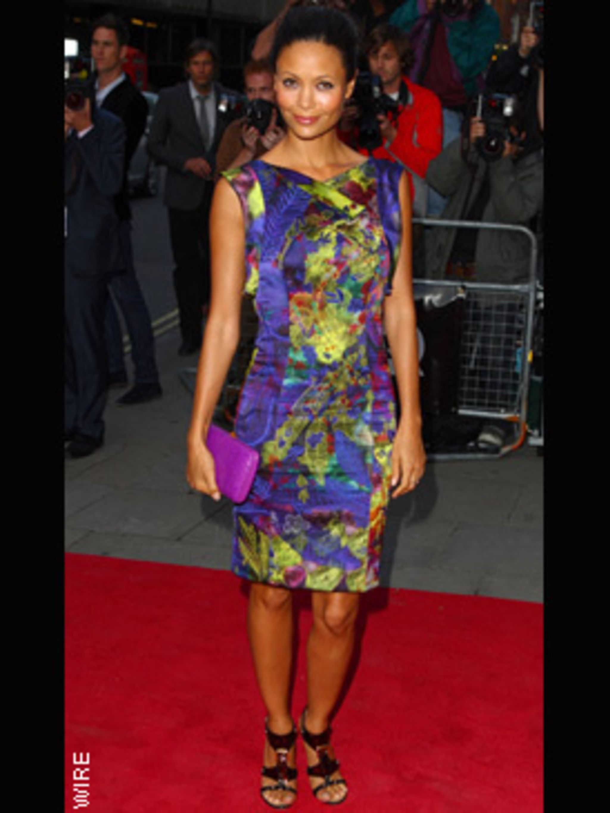 <p>Thandie Newton on the red carpet in Erdem</p>